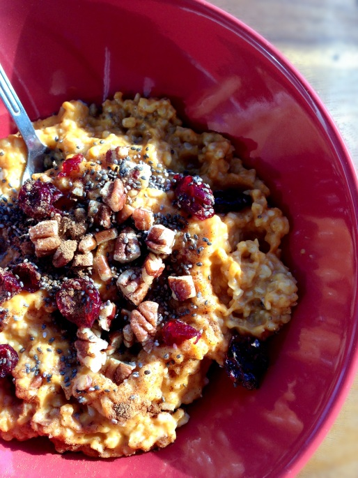 pumpkin spice steel cut oats 2
